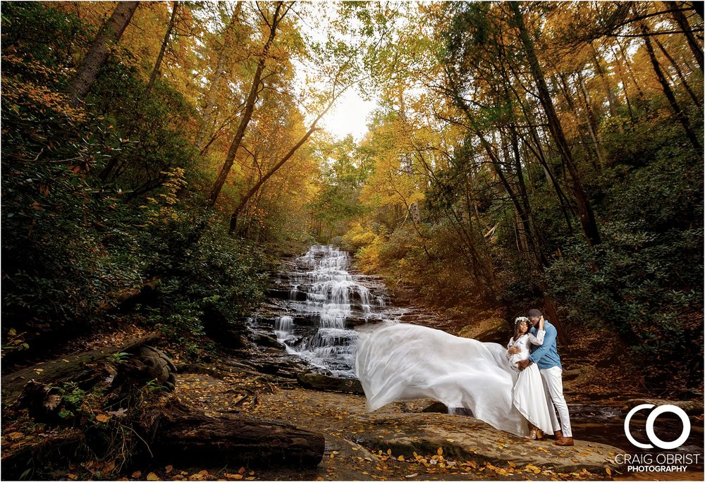 Waterfall Maternity Wedding Portraits North Georgia Atlanta_0007.jpg