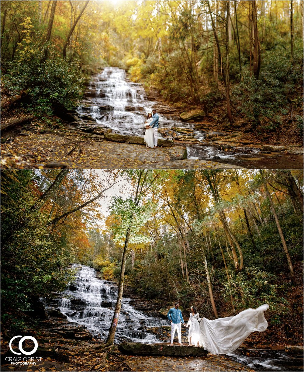Waterfall Maternity Wedding Portraits North Georgia Atlanta_0009.jpg