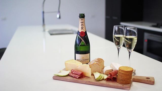 Cheese, crackers, and champagne anyone?  #TheWhiteHouseEchuca #champagne #echuca #luxury #photography