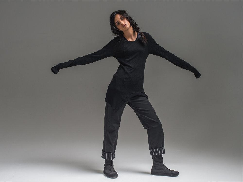 Obsidian top, Wool Coco top + Meryl pant