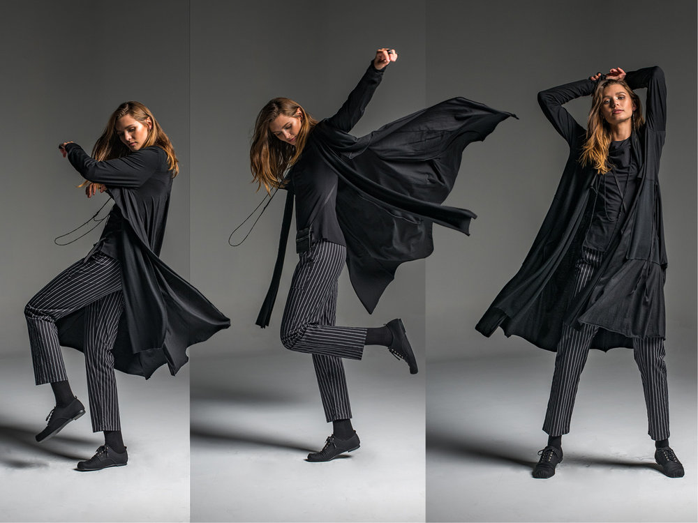 Rambler pants, Facade coat, Subtle top