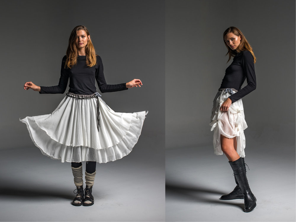 Subtle top, Enigma skirt, with or without Lanky legs
