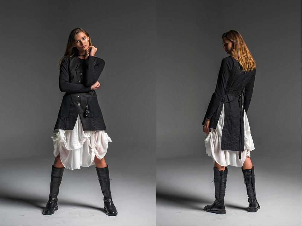 Subtle top, Enigma skirt, Mysteria vest