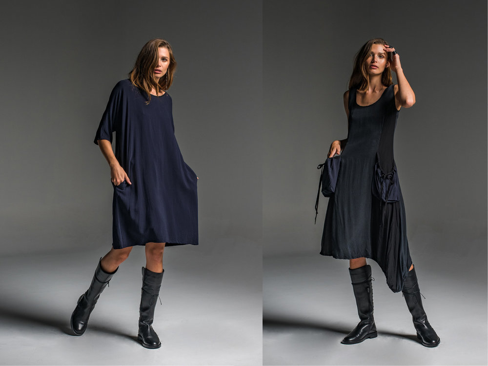 LEFT: Avril dress  RIGHT: Rogue dress