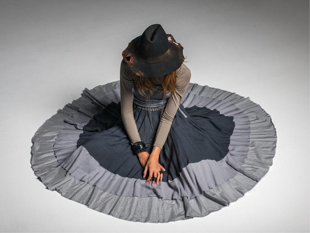 Multitude top, Greta singlet, Enigma skirt