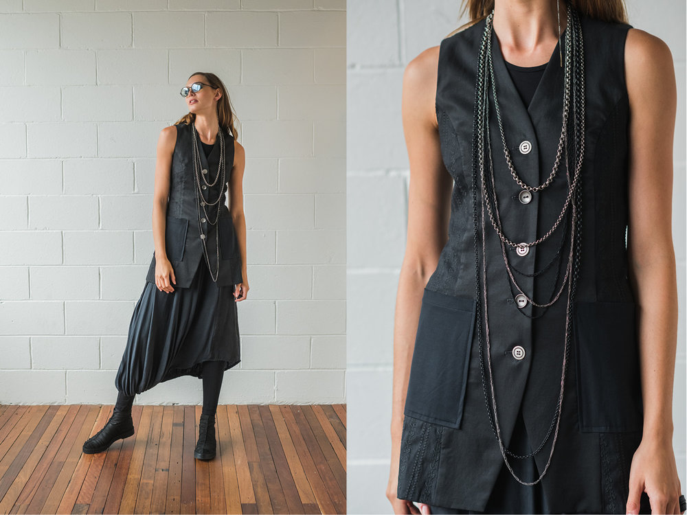 Obsidian top, Mysteria vest, the Levitate, Lanky legs