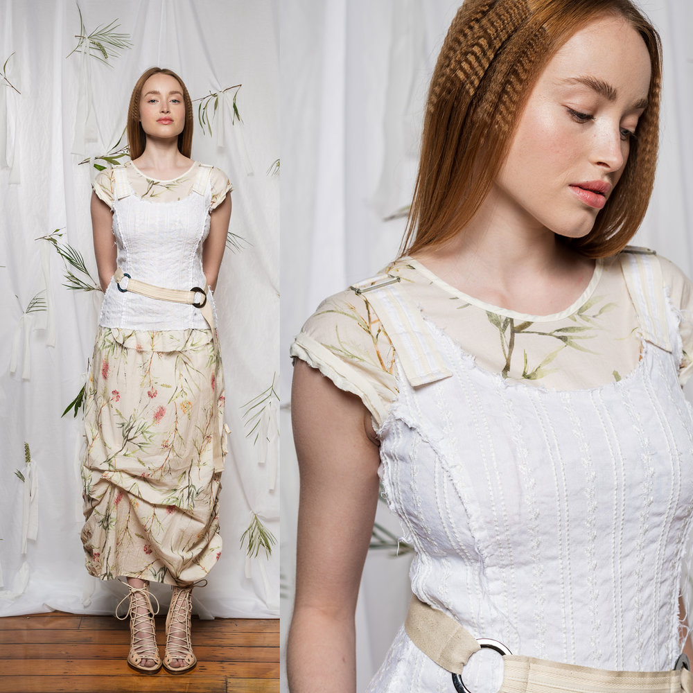 Sylvan Top, Moonlight Top, Marmalade Skirt & Linen Belt