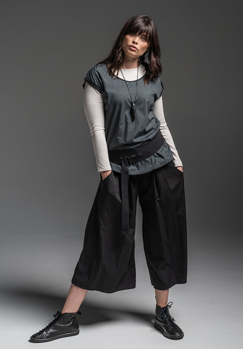 Multitude top, Moonlight top, Circle belt + Grove pant