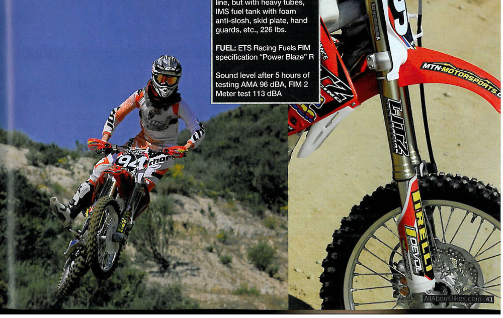 Litz Racing Motorcycle Dirt Magazine