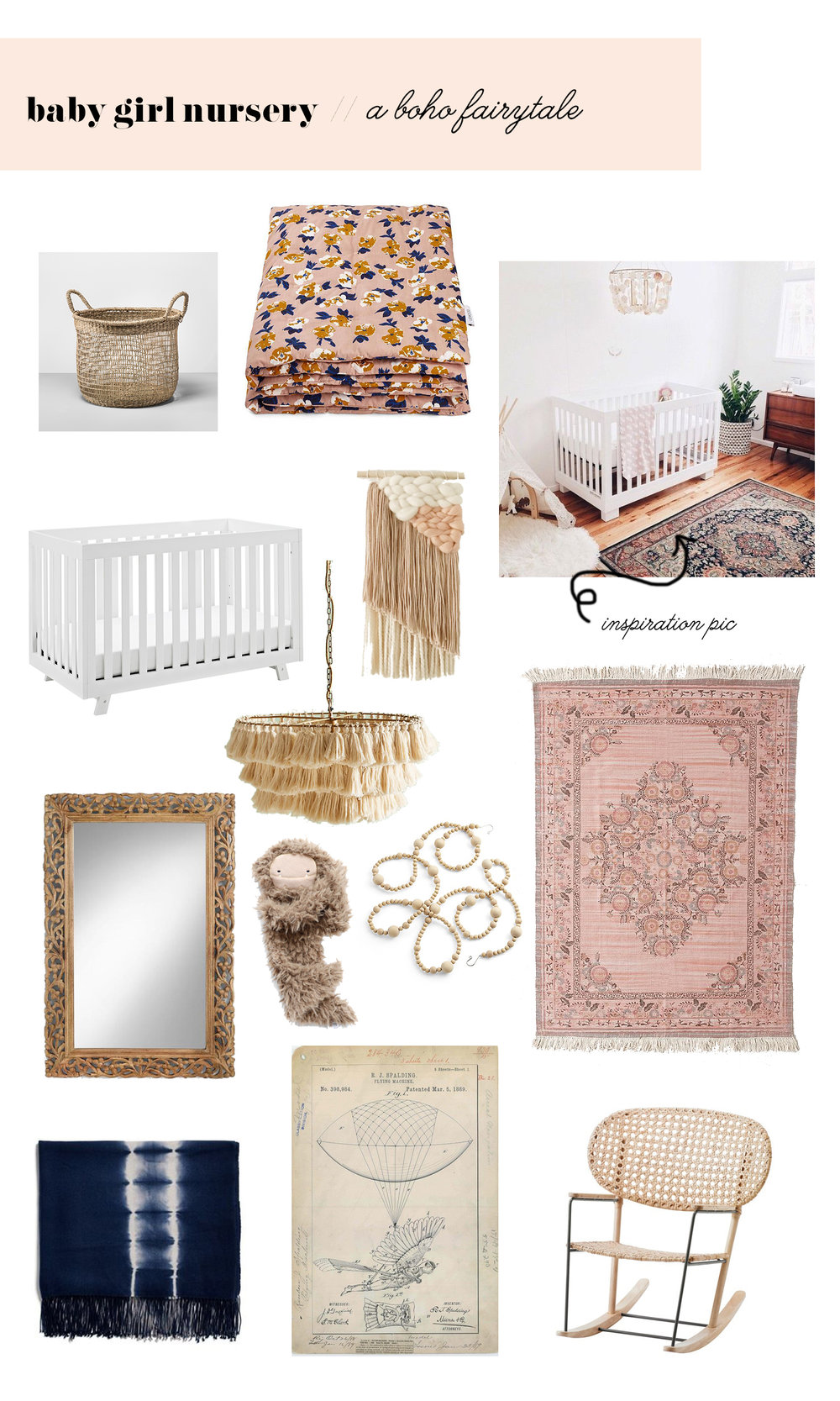 boho nursery ideas // Kay & Edna