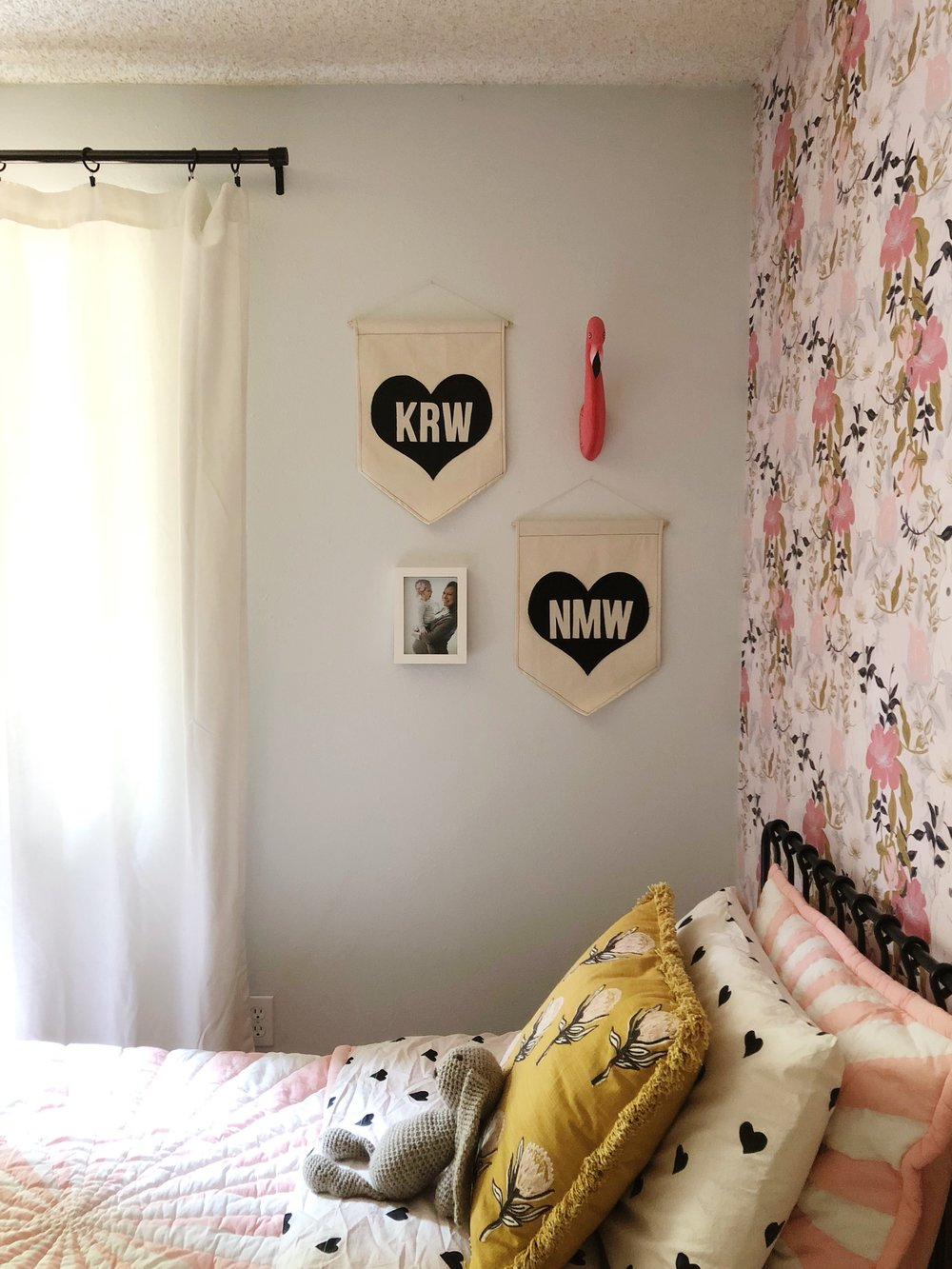 Eclectic Shared Girl's Room // Kay & Edna