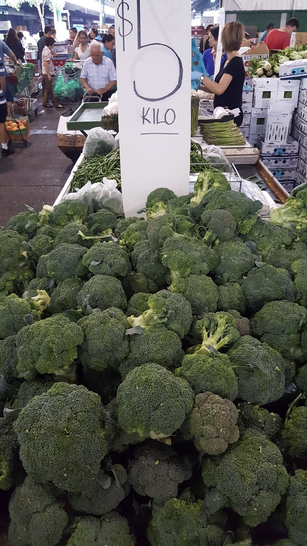 Broccoli for days at Sydney Markets.