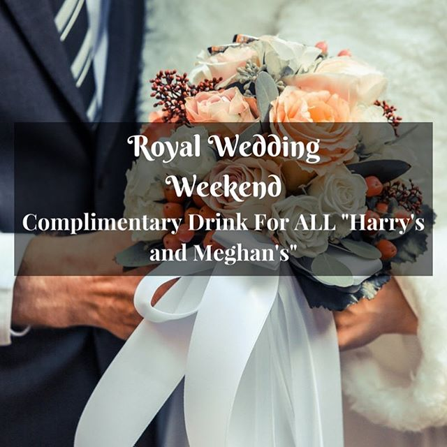 "The Royal Wedding is almost upon us! As a cheers to Prince Harry and Meghan, we are offering everyone named ""Harry and Meghan"" a COMPLIMENTARY DRINK (Beer/Wine) with their meal when they dine with us between 18th and 20th May. . Congratulations to the royal couple and we wish them a lifetime full of love and happiness! . *To redeem this, please bring proof of ID that you are called Harry or Meghan. The offer also applies to @samsirestaurant."