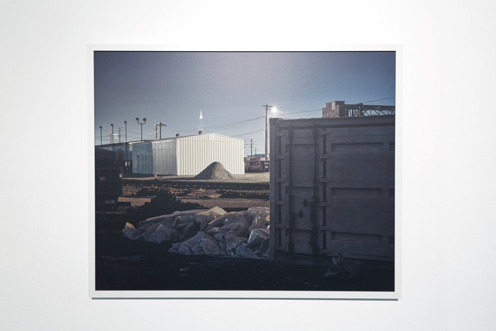 No. 1204 from series No Man's Land, 32 x 40 inches, framed.