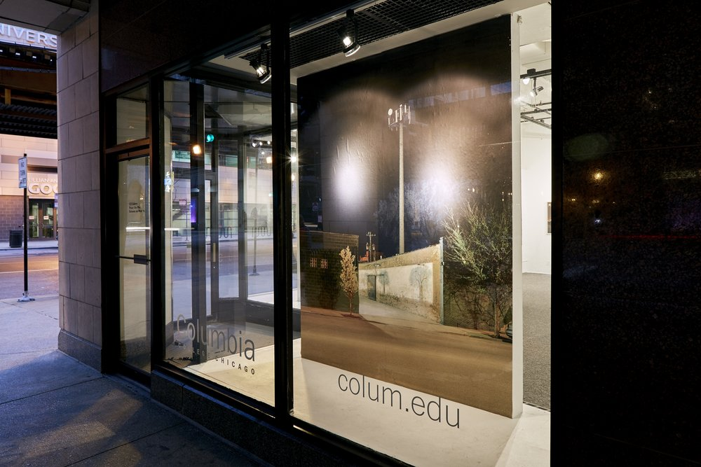 Window Installation/Street View, No Man's Land, C33 Gallery, Chicago, IL