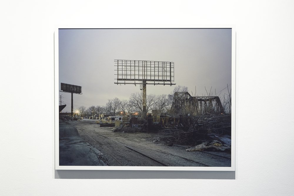 No. 1252 from series No Man's Land, 32 x 40 inches, framed.