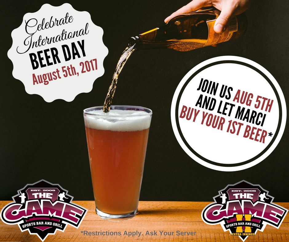 National Beer Day at the Game Restaurant