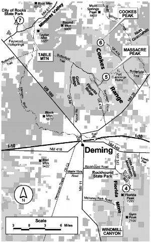 Map of deming