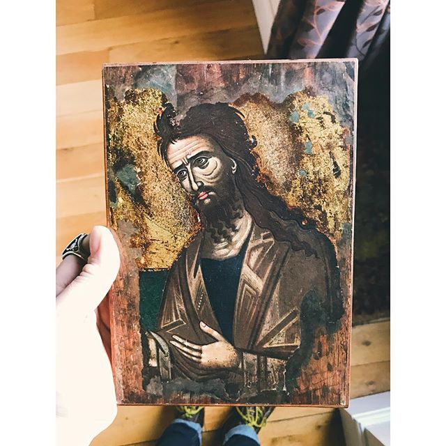The Mrs picked up this awesome John the Baptist picture up on her travels this week 😊