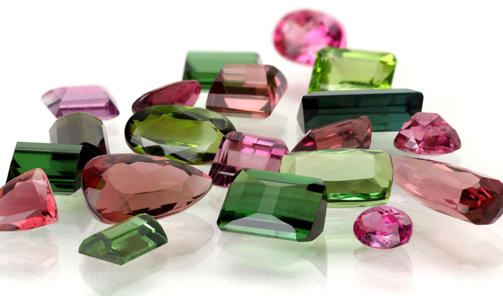 Tourmalines most infamous colors of greens and pinks. Often seen together in one stone and when cross-sectioned it resembles that of a watermelon.