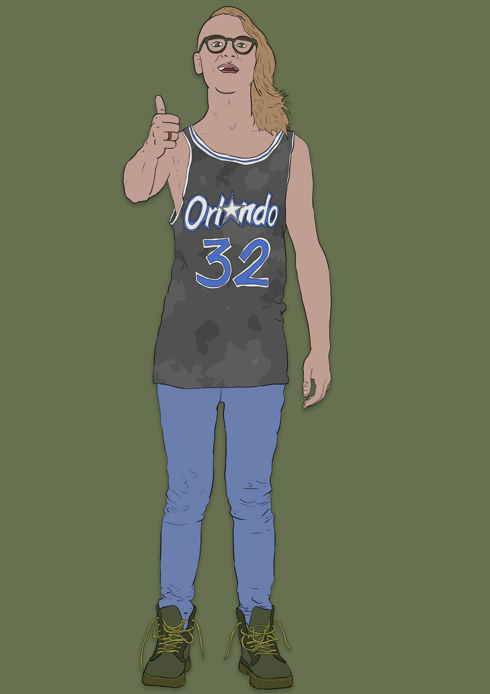 I turned 32 on Shaq's birthday. And drew a picture of myself, like a weirdo.