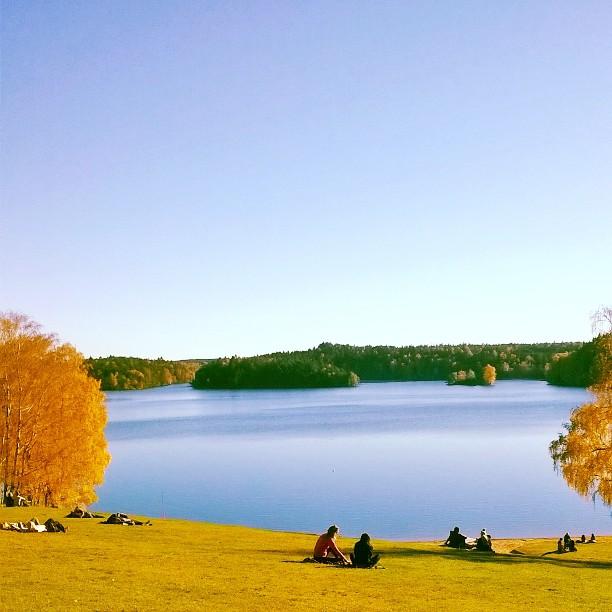 Stora Delsjon lake in Gothenburg