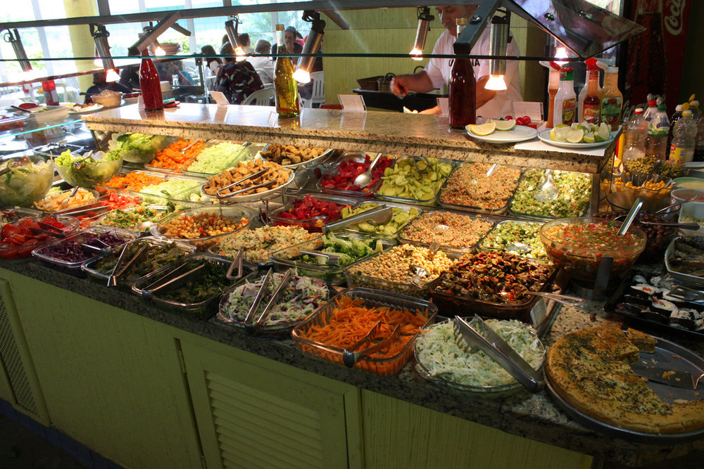 Salad bar lunch buffet in Gothenburg