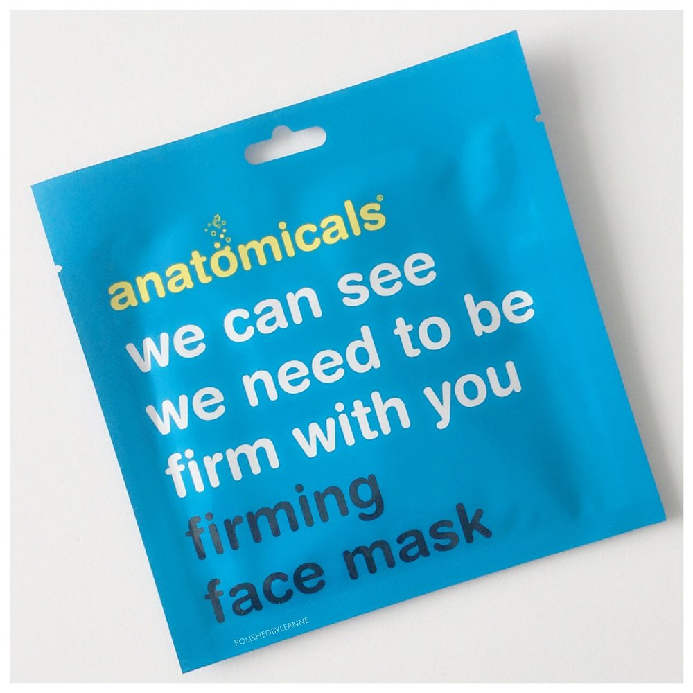 Anatomical firming face mask