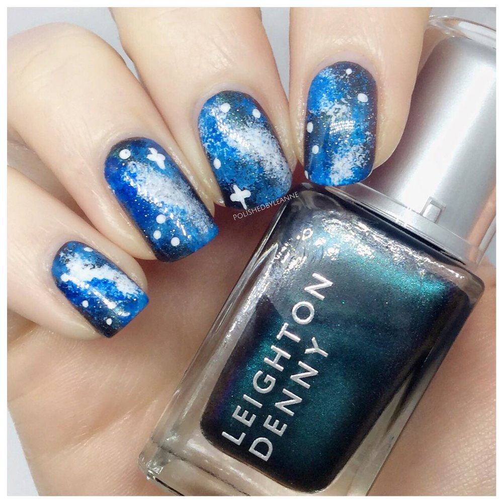 How to do Dark Galaxy Nail Art — polished by leanne