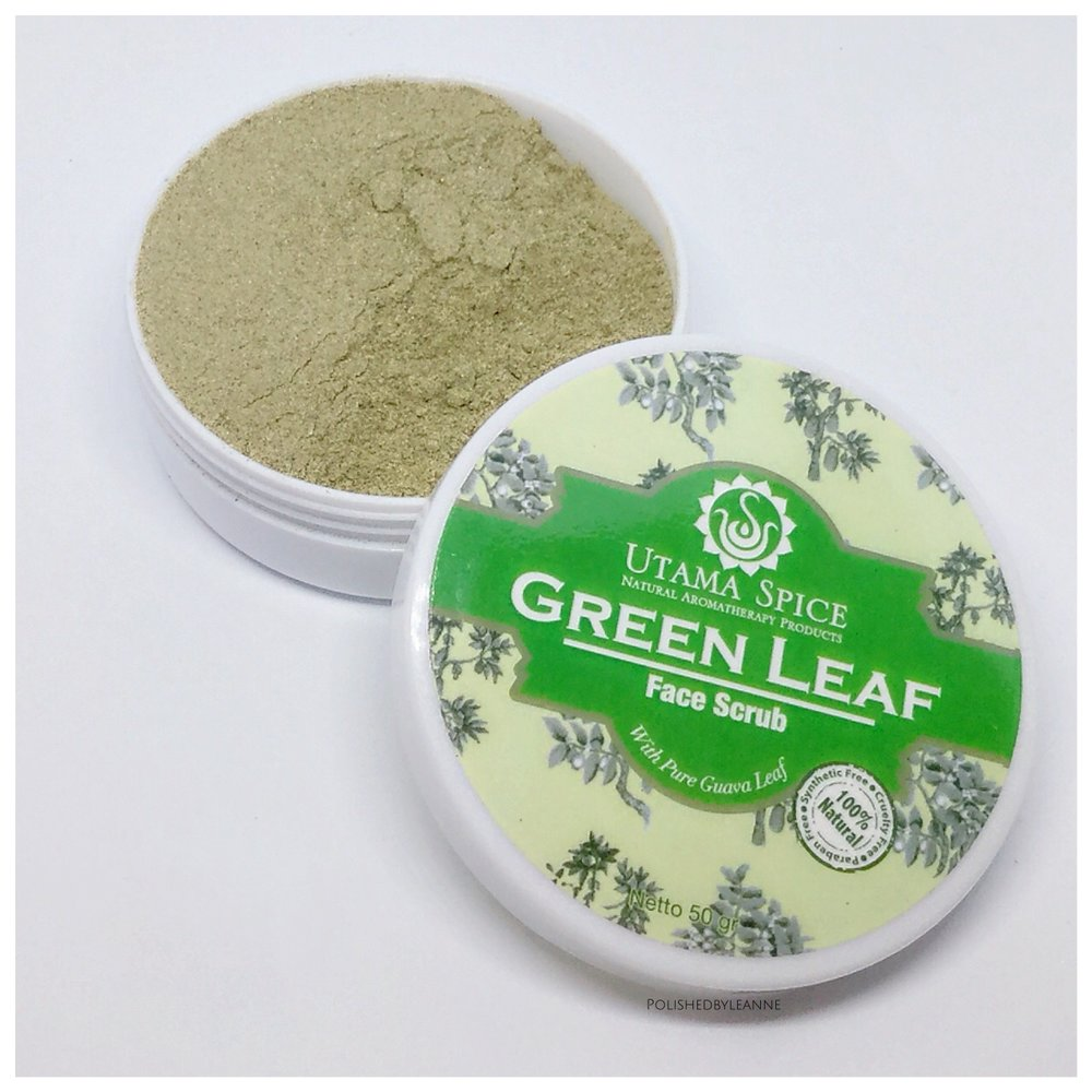 Green leaf face scrub
