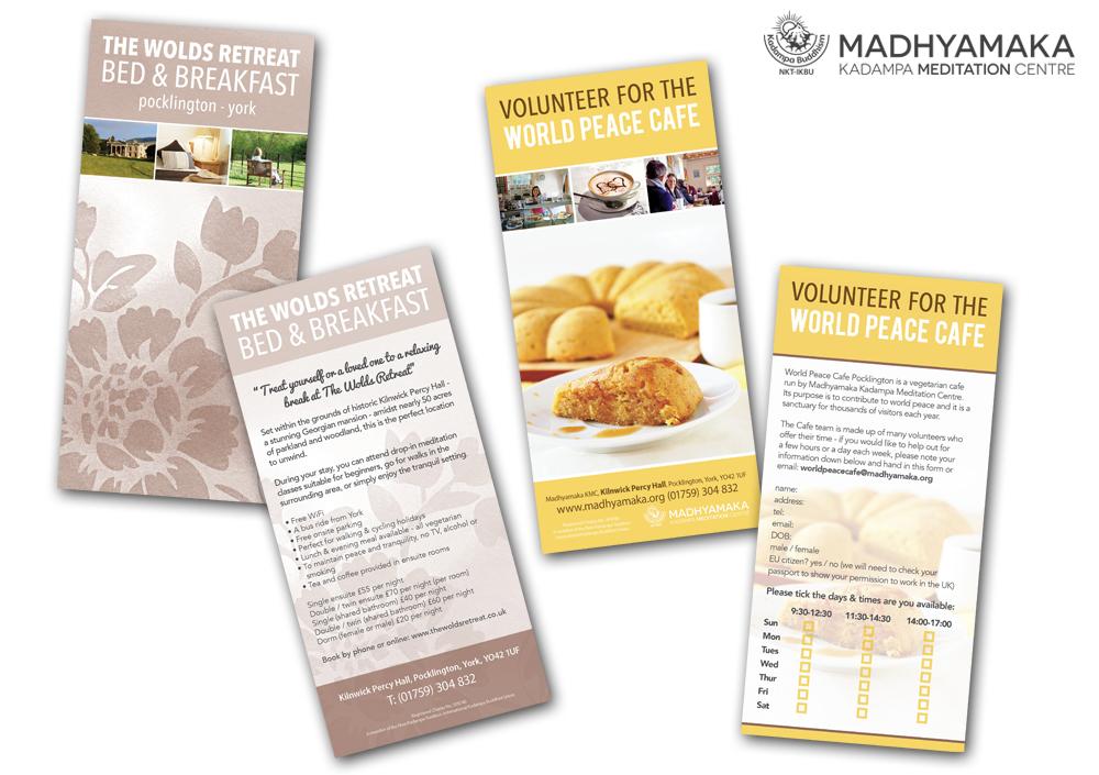 Flyer Designs For Madhyamaka Meditation Centre