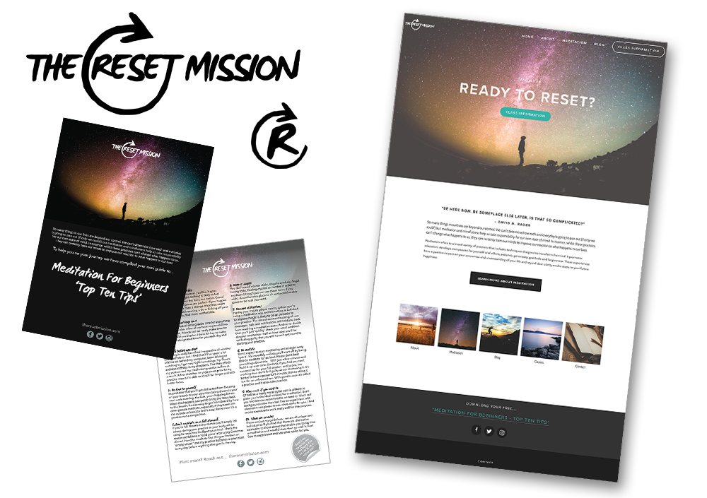 The Reset Mission Website & Branding