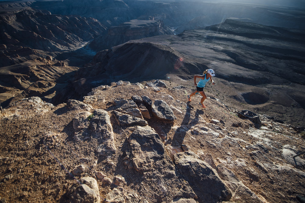 Mina Guli Running in the Richtersveld National Park in South Africa