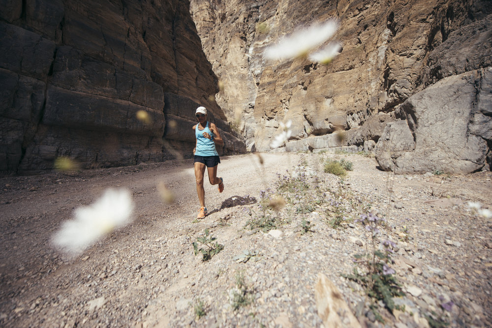 Mina Guli Running in Death Valley