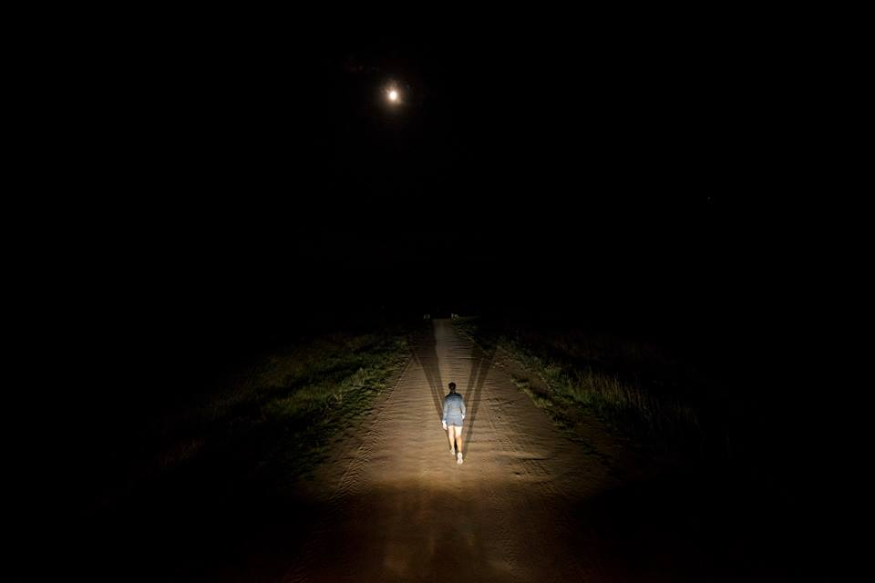 I started running at 05h00 and only managed to finish my miles after 21h00. Photo by Kelvin Trautman