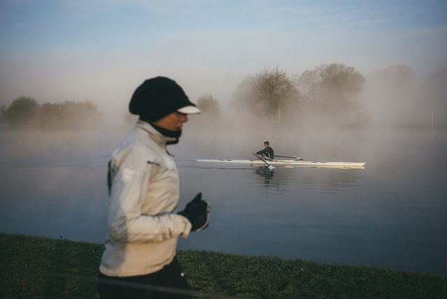 A cold morning during the 6 River Run (photograph: Kelvin Trautman)