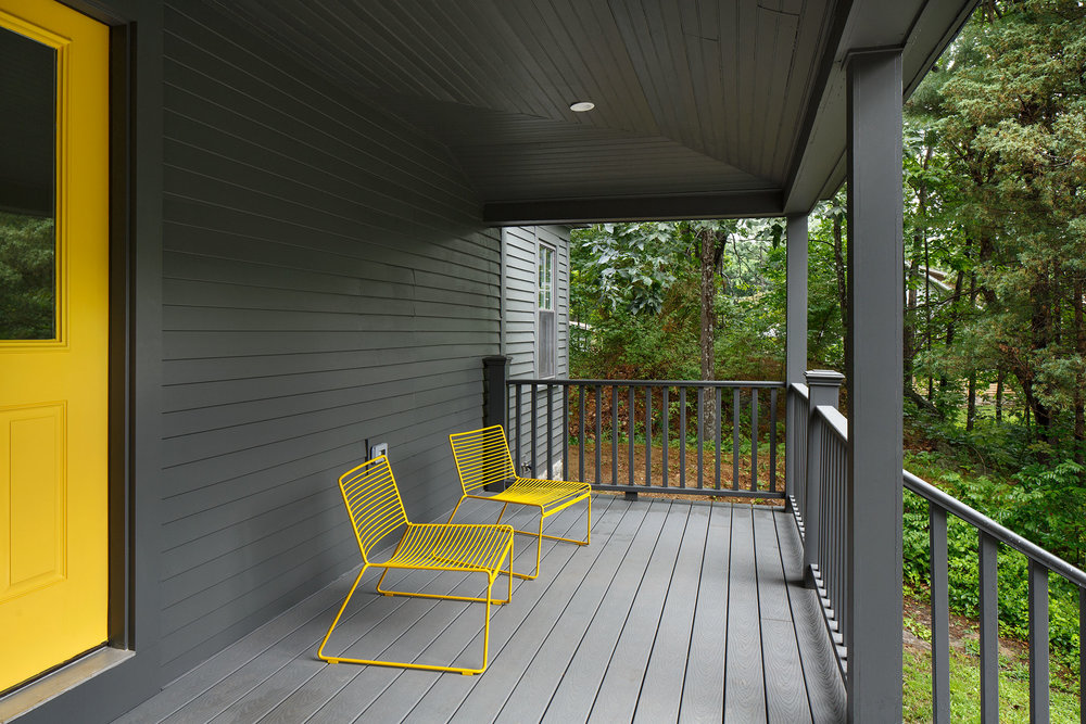Sitting on a Front Porch - Take advantage of the cool Maine mornings and enjoy your coffee on the large front porch.