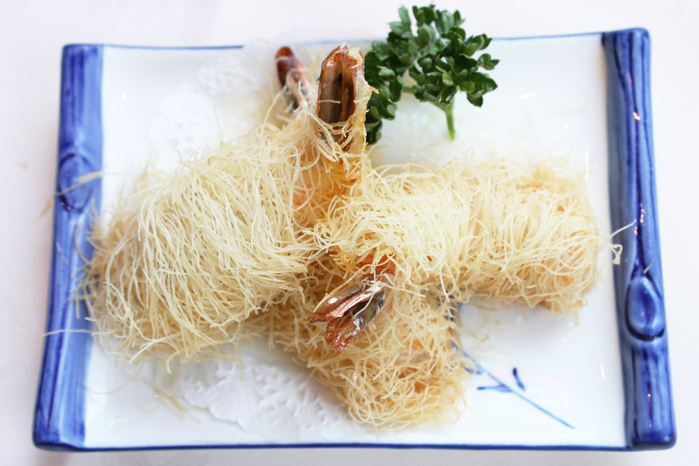 千岛丝明虾  Crispy Golden Noodle with Prawn  £3.80