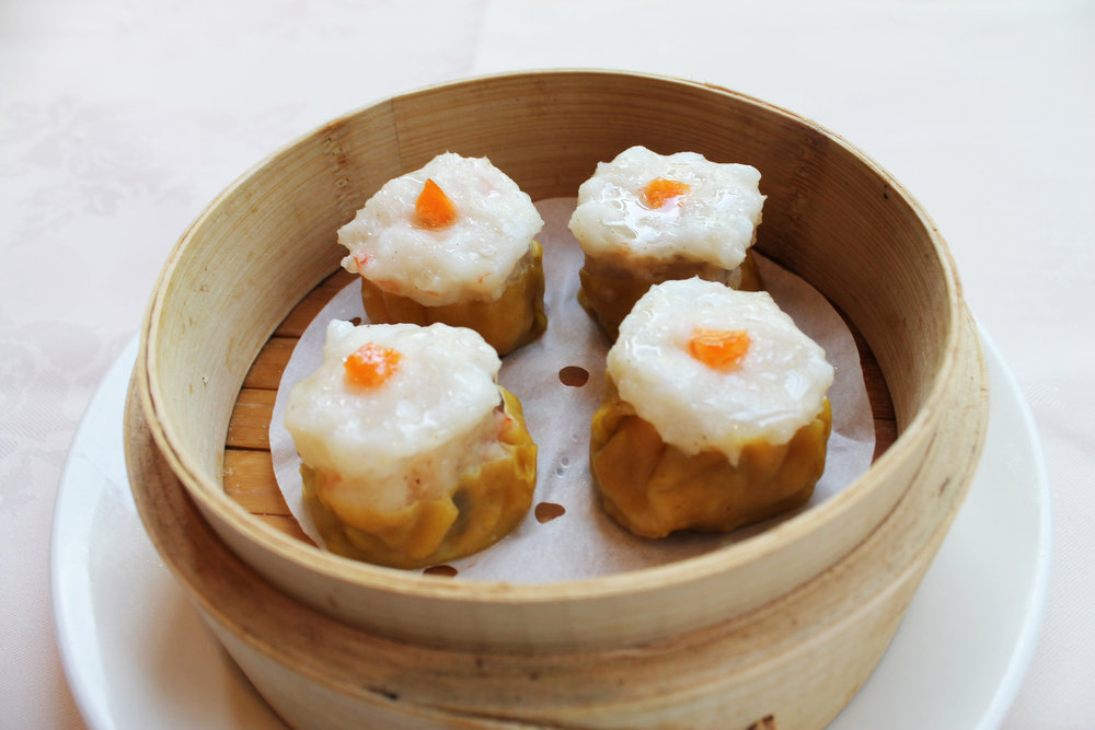蟹皇蒸烧卖  Pork and Prawn Dumpling  £3.60