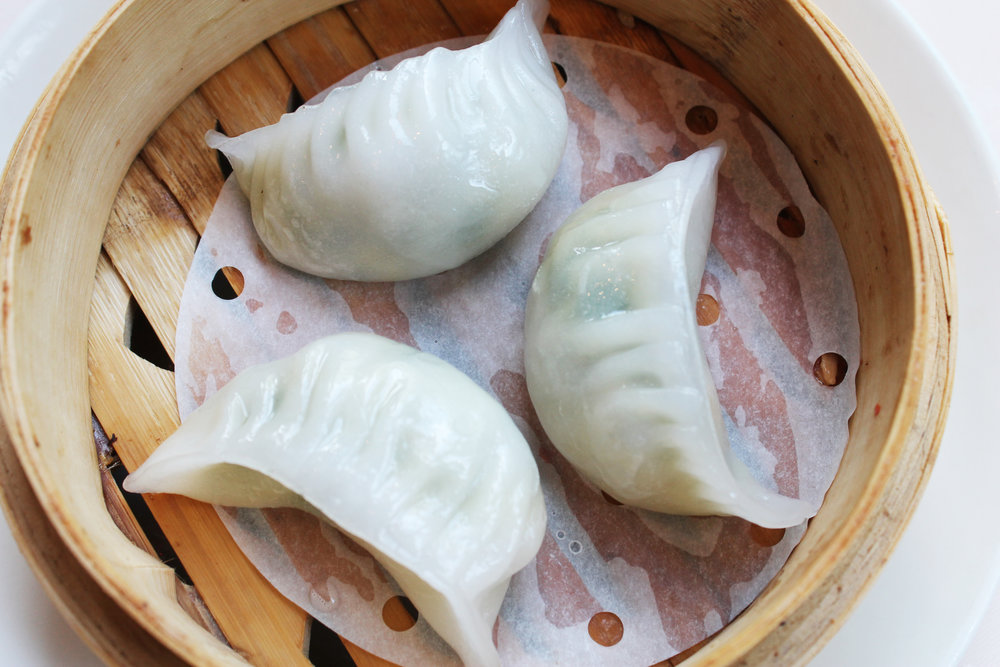 鲜虾韭菜饺  Prawn & Chinese Chives Dumpling  £3.60