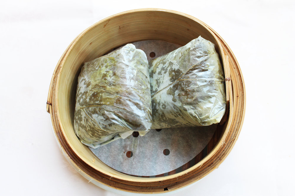 迷你珍珠鸡  Mini Glutinous Rice Wrapped in Lotus Leaves  £4.50
