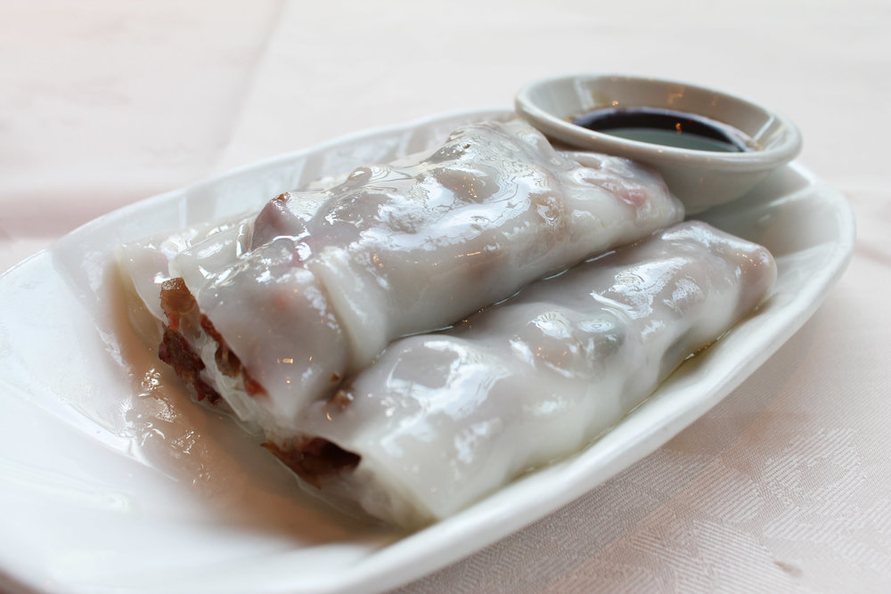 叉烧肠粉  BBQ Pork Cheung Fun  £3.80