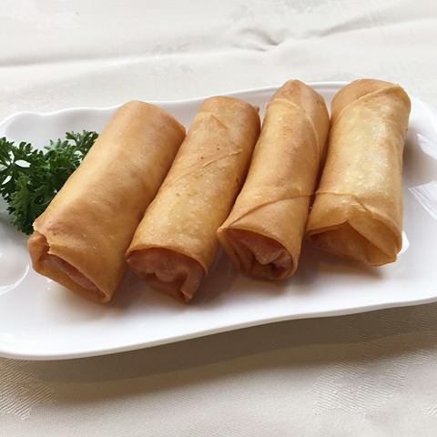 Prawn, Cheese & Garlic Spring Rolls     芝士蒜香蝦卷