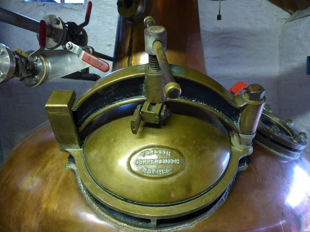 Whisky and brandy still at Healey's Cyder Farm