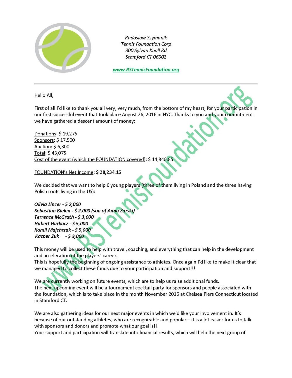 Thank you note radoslaw szymanik tennis foundation rs tennis lettertoplayersenglishversionpage1g expocarfo