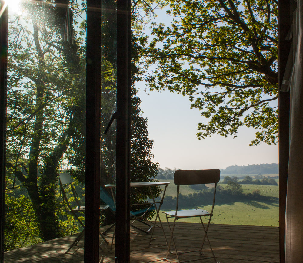 Shepherds Hut View From The Deck Rye East Sussex