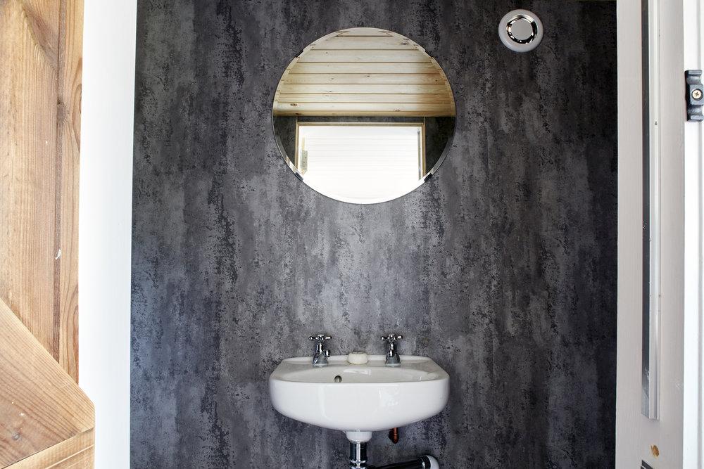 Shepherds Hut Bathroom Sink Rye East Sussex
