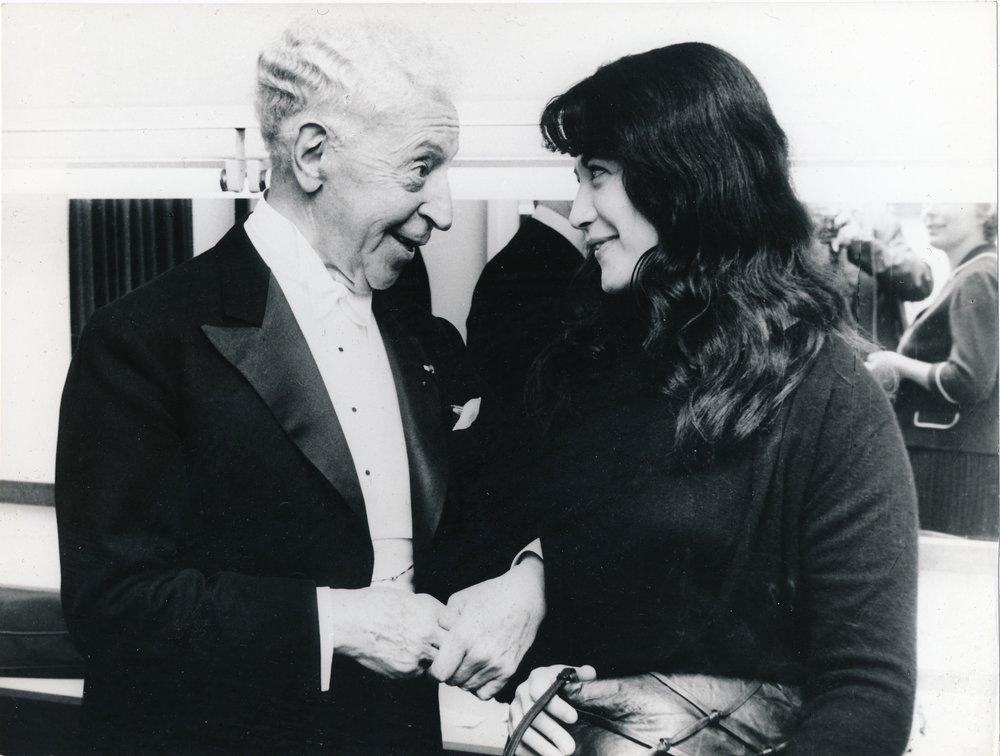 Martha Argerich avec Arthur Rubinstein