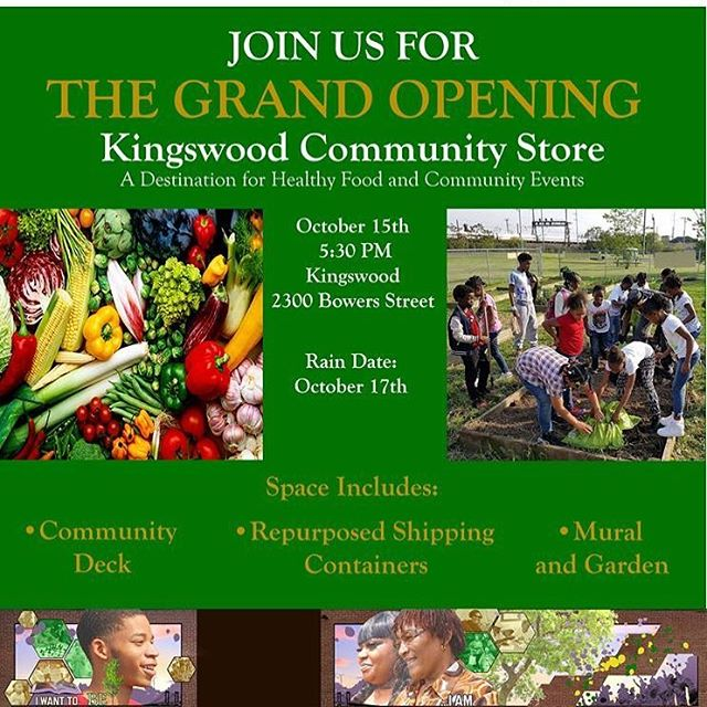 Before you head to the second 2020 Census Job fair of the day, come to Kingswood at 5:30 PM for the Grand opening of the new Kingswood Community Store! The space includes two repurposed shipping containers, a community deck, a mural, and a garden!