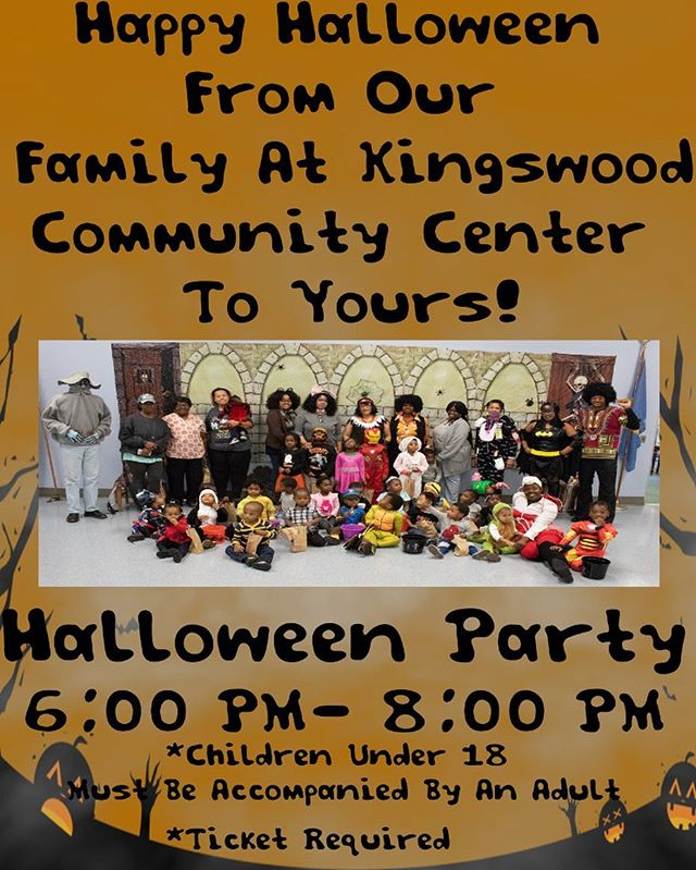 Happy Halloween! If you are looking for an extra spook tonight, stop by our Halloween party from 6PM-8PM at Kingswood Community Center. A free ticket is required and all children under 18 must be accompanied by an adult. Contact Ms. Cookie for more information (302) 764-9022!